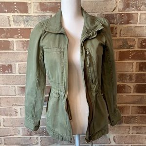 Madewell Olive Green Distressed Jacket